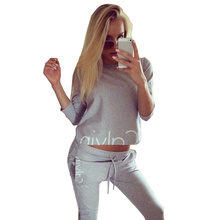 Brand Calvin Women Tracksuits Two piece set women cotton Plus Size Streetwear Survetement jogging femme conjunto faldas mujer