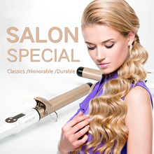 Professional Ceramic Hair Curler Lcd Curling Iron Roller Curls Wand Waver Fashion Styling Tools 32mm ceramic anion hair curler comb hairbrush lcd curling straighting straightener brush roller iron fashion styling tools s34
