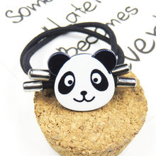 1PCS Lovely Panda Elastic Hair Bands For Girls Chinese Style Clip Headband Scrunchy Hairpin Kids Hair Accessories For Women(China)