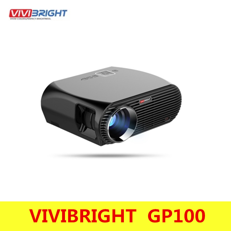 VIVIBRIGHT GP100 Android 6.0.1 LED Projector UP. 1280x800 Resolution 3200 Lumens Built-in WIFI Bluetooth DLAN Miracast Airplay vivibright gp5s mini led projector 320x240 80ansi lumens