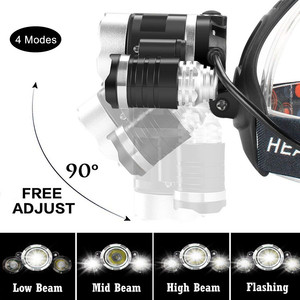 Image 3 - Zpaa LED Phóng To Mạnh Mẽ T6 Đầu Đèn Pin Đèn Pin Cảm Biến Sạc Đầu Trán Đầu Đèn Câu Cá Đèn Pha