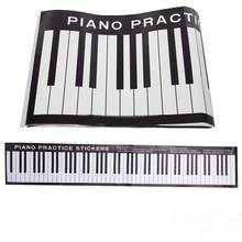 88 Keys Piano Practice Keyboard Sticker On Desk Exercises