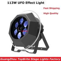 2017 Factroy Price 113W Bee Eye UFO Effect Light 6X15W RGBW 4IN1 LED 60 Blue SMD