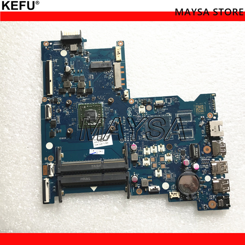 for HP 15-AF Series 818487-001 818487-501 818487-601 R5M330 1GB A6-6310 ABL51 LA-C781P Laptop Motherboard Mainboard Tested
