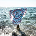 Woweile Round Hippie Tapestry Beach Throw Roundie Mandala Towel Yoga Mat Bohemian