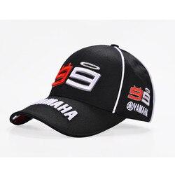 2019 Новинка F1 MOTO GP Jorge Lorenzo вышивка 99 YAMAHA Кепка мотогонок бейсболка Gorra спортивные бейсболки