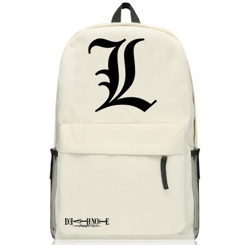 Japan Anime Death Note L Print Misa Amane Cosplay Backpack Traveling Bag Unisex Oxford Cartoon Student Schoolbag Shoulders Bags death note necklace japan anime l ryuuzaki zinc alloy silver necklaces retail bulk free shipping
