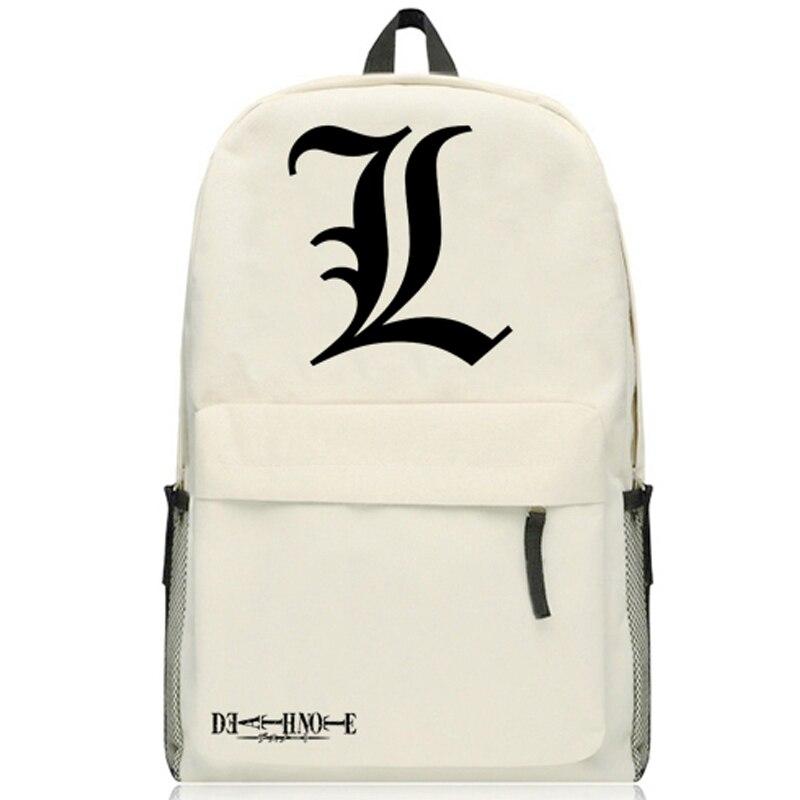 Japan Anime Death Note L Print Misa Amane Cosplay Backpack Traveling Bag Unisex Oxford Cartoon Student Schoolbag Shoulders Bags
