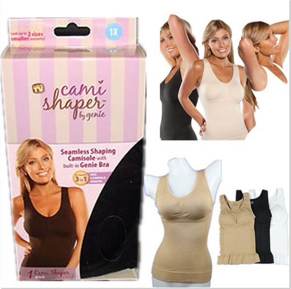 0816e2b578 1 Piece Hot sale Cami shaper by Genie with Removable Pad women tops waist  training corsets 3 colors Plus Size Slimming Shapewear
