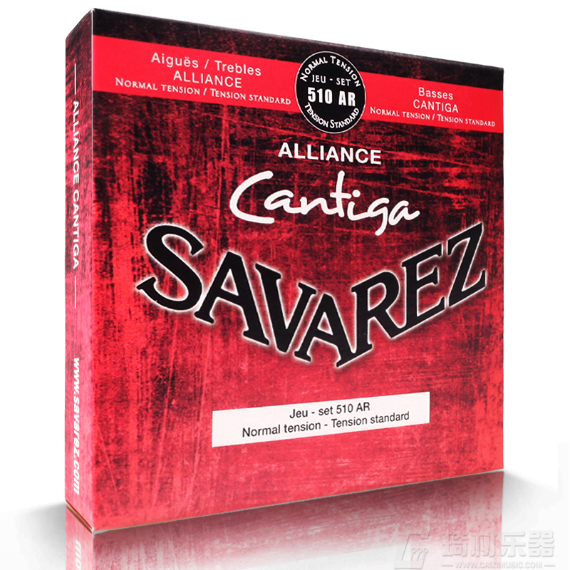 Savarez 510 Cantiga Series Alliance/Cantiga Normal Tension Classical Guitar Strings Full Set 510AR olympia brand classical guitar string 1 set 6 strings high quality clear nylon strings normal or hard tension original