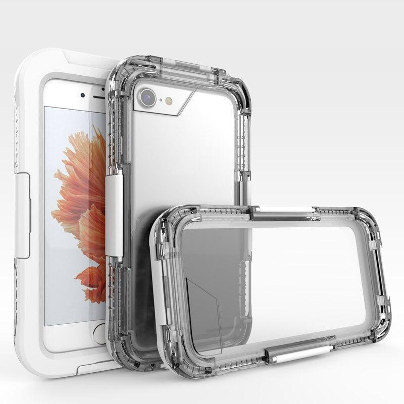 bilder für Telefon Taschen für iPhone 5 s Fall Wasserdicht Fundas Schwimmen Tauchen Cover Acryl Stoßfest Klarer Fall für iPhone 5 5SE unterwasser