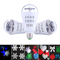 LED Rotating RGB Lamp Crystal Ball Stage Light  Multiple Pattern Christmas Party Disco DJ Show Club Bar Wedding Stage Light FULI