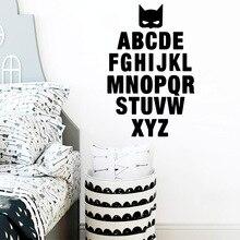 Cartoon Alphabet Pvc Wall Art For Living Room Decor Kids Stickers Sticker Murals Bedroom Decorative