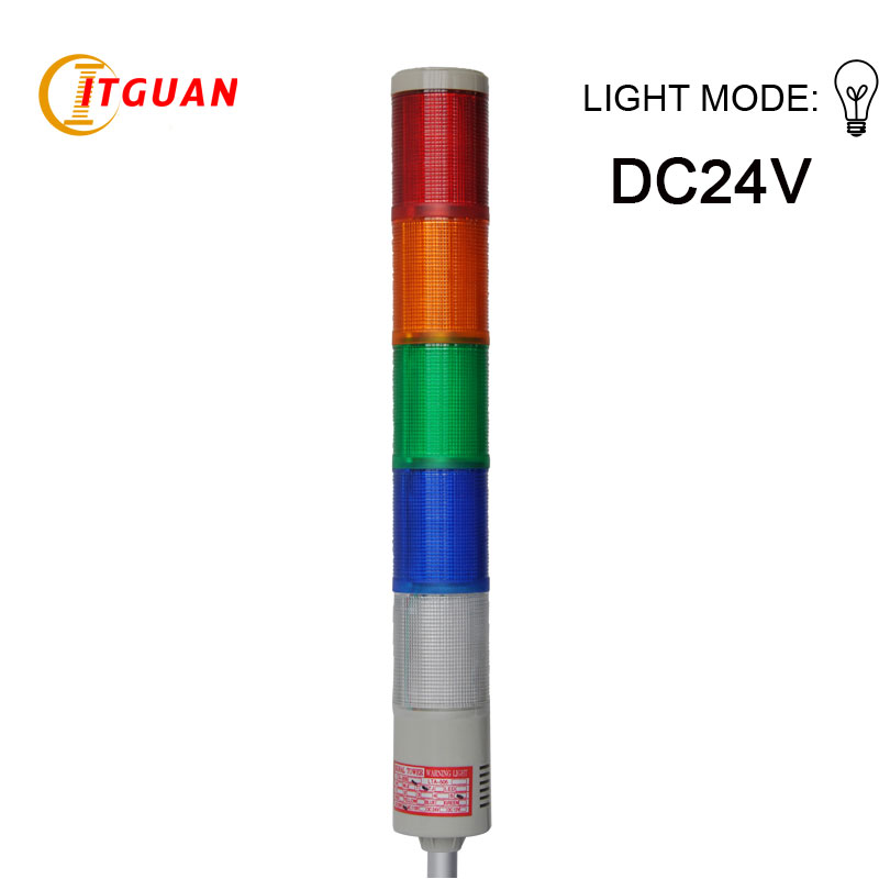 LTA-205 DC24V 5 Layers Bulb Tower Light Alarm Emergency Industrial Machine Strobe Light Beacon Tower Signal Indicator Lights foldable pu leather pad cover with flower girl driving style inlaid diamond support stand for ipad mini 3