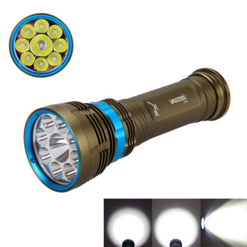 ФОТО Submersible underwater glare flashlight super bright 12000lm 18650 6 charge 100 meters