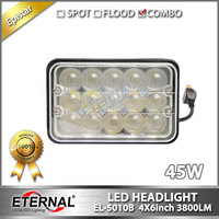 10pcs 4x6in 45W Super Bright Led Sealed Headlight Universal 4x4 4D Install Outside Of The Vehicles