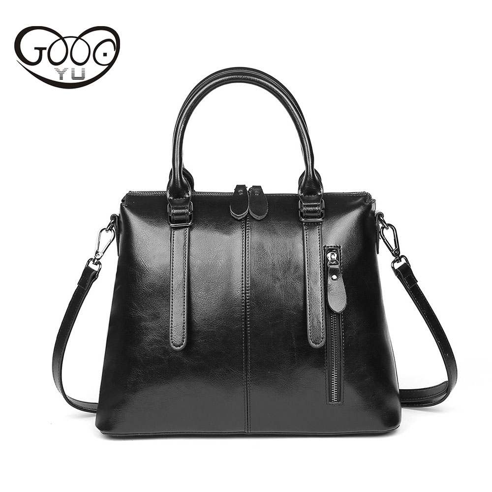 Hot fashion Europe and the United States fashion oil wax kraft handbag vertical section zipper multi-color ladies shoulder Messe new europe and the united states fashion oil wax head layer of leather portable retro shoulder bag heart shaped color embossed h