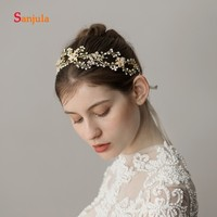 Pearls Beaded Hollow Flower Special Headband for Bridal Handmade Wedding Accessories bruids decoratie H190