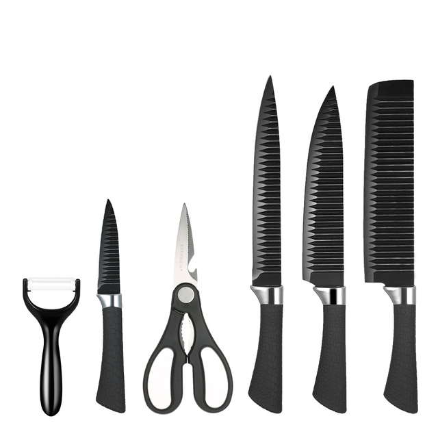 sharp kitchen knives wall table for 6pcs set knife professional chef fruit paring vege