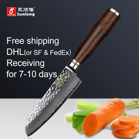 Sunlong 5 inch Santoku Knife Chef knives Damascus steel Slicing Knives 67layers Japanese Meat/vegetable knife Cleaver