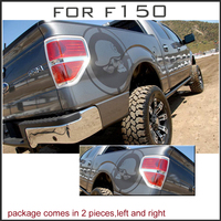 Skull Body Rear Tail Side Graphic Vinyl Decals For F150 RAPTOR Series