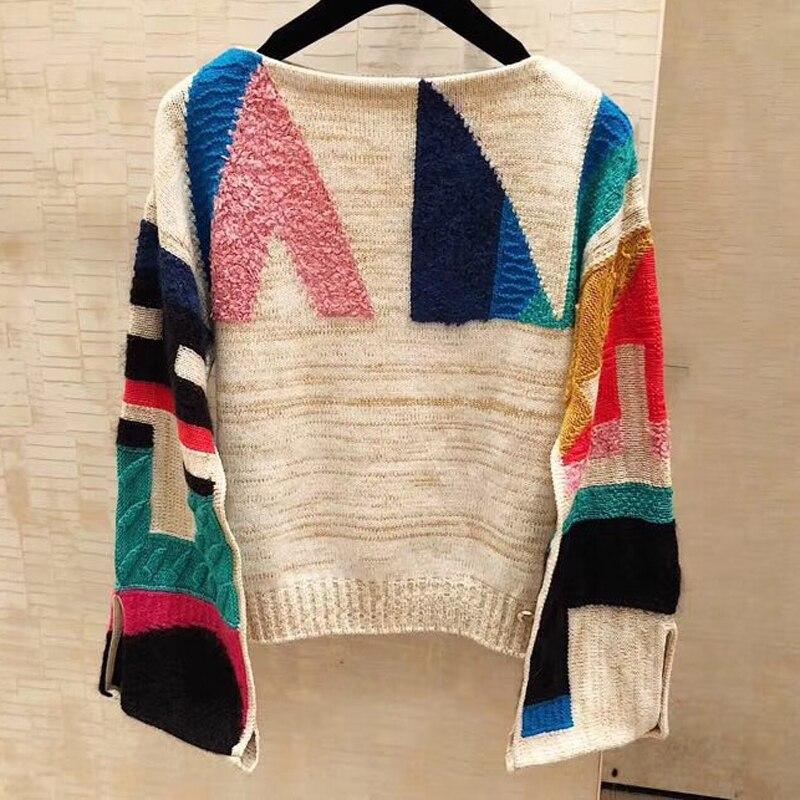 Pull court décontracté femmes été col rond à manches longues chandail tricoté pulls 2019 mode nouvelles femmes lâche chandails