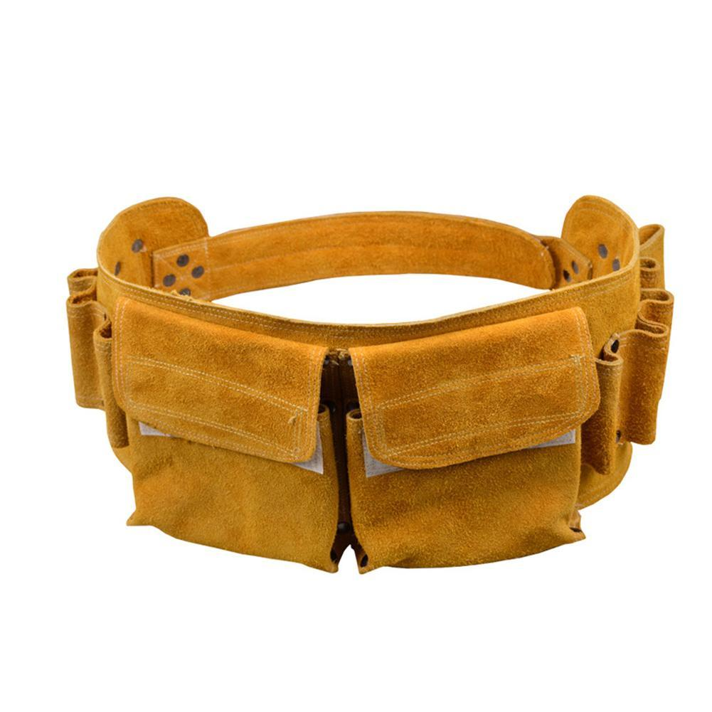 Repair Tool Bag Belt Children Real Leather Tool Belt Work Bag High Altitude Construction Worker Electrician Repair Waist Bag
