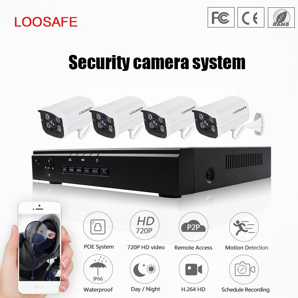 LOOSAFE HD 720P Outdoor Economic Video Poe Network Surveillance System 1MP 720P POE Bullet IP Camera