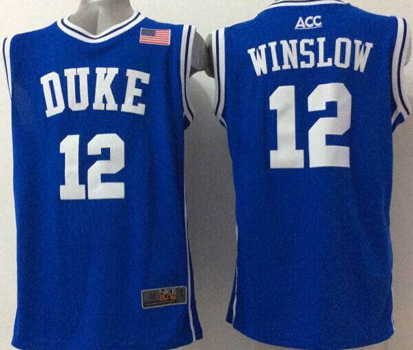brand new acb13 21ad2 2016 NWT Duke Blue Devils #12 Justise Winslow Jersey Blue ...