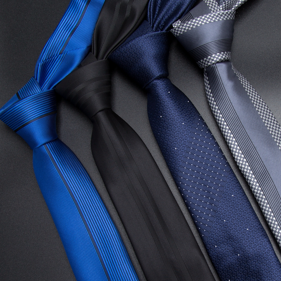 Men Tie 5cm Skinny Ties Luxury Mens Fashion Striped Neckties Corbatas Gravata Jacquard Business Man's Wedding Dress Slim Tie