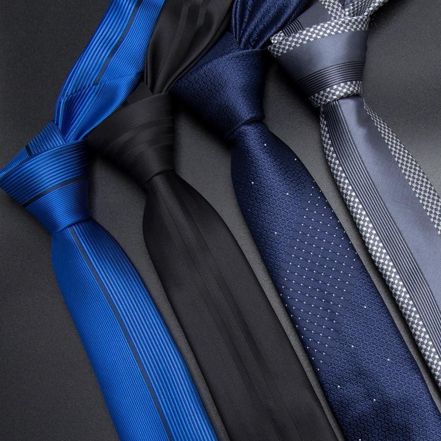 Men Tie 5cm Skinny Ties Luxury Mens Fashion Striped Neckties Corbatas Gravata Jacquard Business Man's Wedding Dress Slim Tie