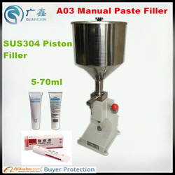 A03 Manual Filling Machine for production of cream & shampoo & cosmetic liquid or paste filling machine, Manual  piston filler