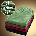 In the spring of 2016 cotton corduroy pants men's cotton thickened straight stretch pants
