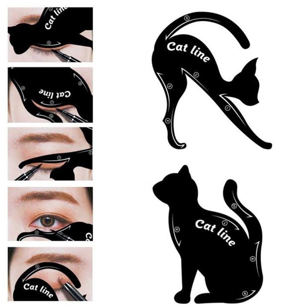 Lke Cat Eyeliner Stencil Matte Pvc Material Smoky Eyeshadow