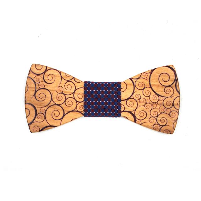 Floral clásico Impreso Corbata Gravata corbata de Lazo para Hombre Trajes de Boda Hecho A Mano De Madera de Madera Maciza Pajaritas Men Party Corbata