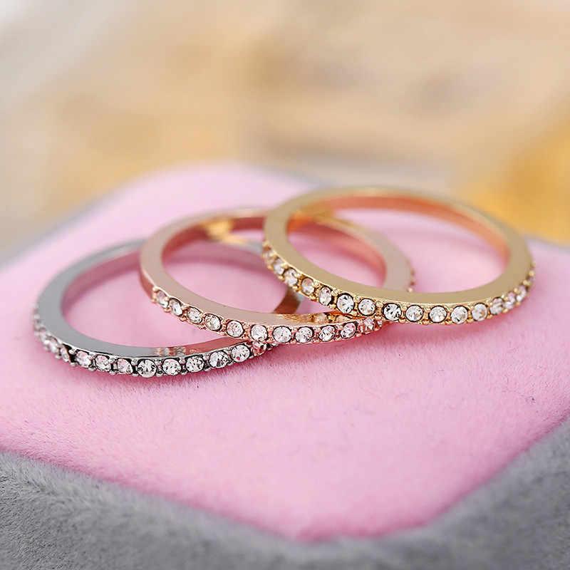 CC ง่ายแหวนผู้หญิงเครื่องประดับอินเทรนด์ Cubic Zirconia แหวนแต่งงาน Bijoux Femme Drop Shipping CC2111