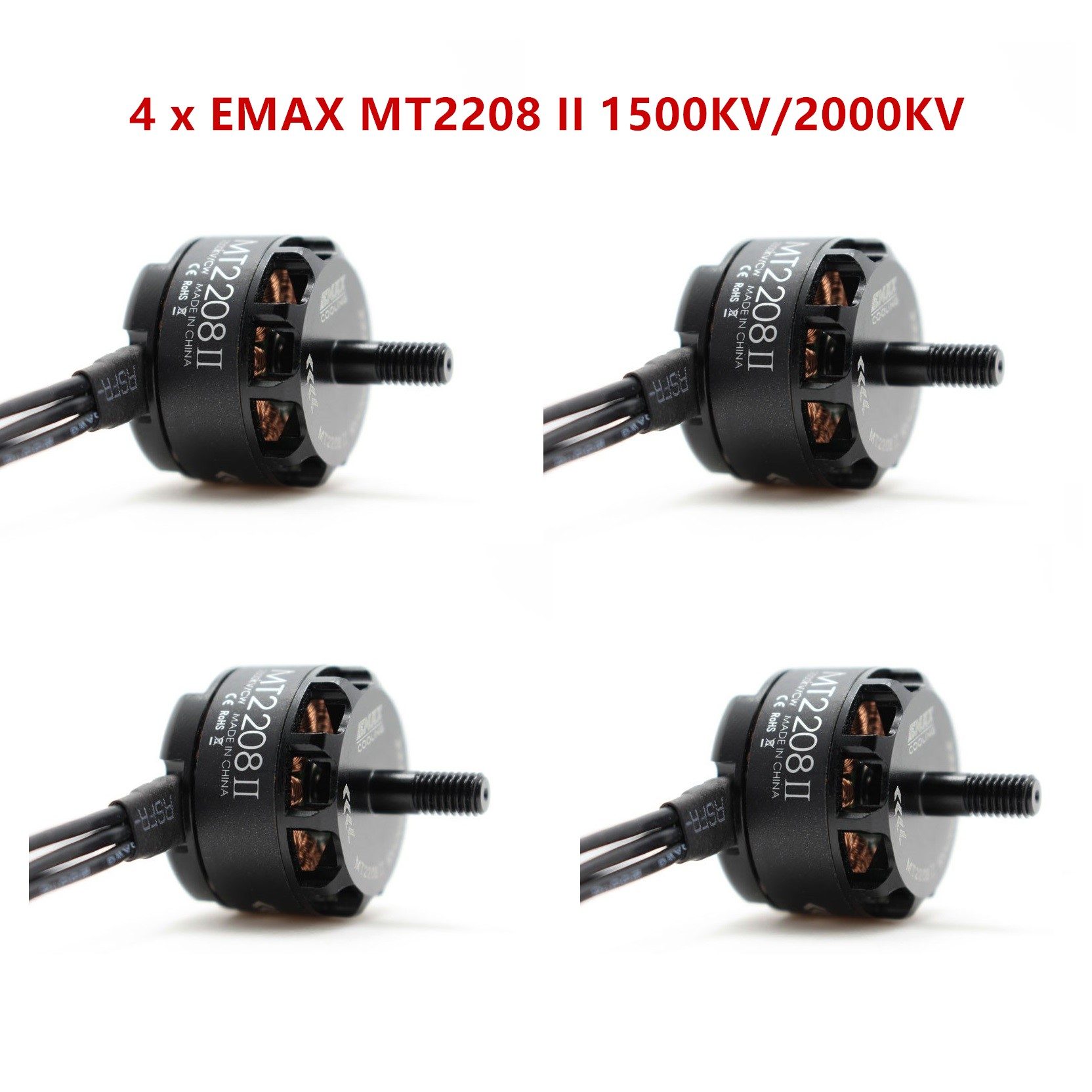 Original EMAX MT2208 II 1500KV/2000KV CW CCW Brushless Motor for RC QAV250 F330 Multicopter