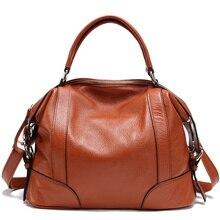100% mujeres del cuero genuino bolsos del mensajero de la primera capa de piel de vaca Crossbody bolsos femeninos hombro bolso de mano PT01