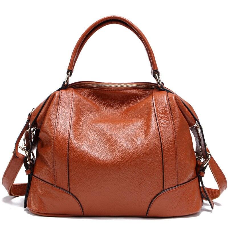 100% prawdziwej skóry kobiet Messenger torby pierwsza warstwa skóry wołowej torebki damskie projektant torba na ramię torba dla kobiet PT01 w Torby z uchwytem od Bagaże i torby na  Grupa 1
