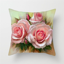 Fuwatacchi Flower Cushion Cover Dandelion Sunflower Throw for Home Sofa Chair Decor White Pink Red Rose Pillowcases New