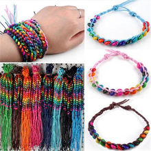 Wholesale 10 Pcs Lots Handmade Wood Beads Bracelets Cuff Bangles For Women Girls Charm Friendship Jewelry Accessories(China)