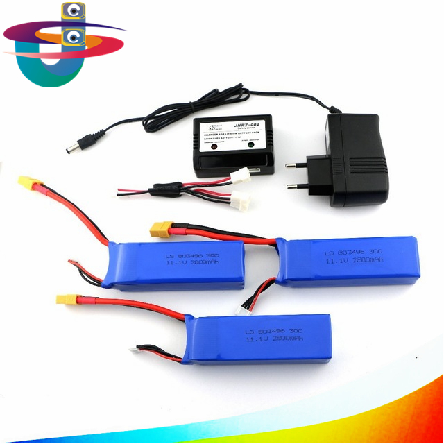 CX20 Cheerson CX-20 11.1V 2800mah 3s 30C Li-po Battery With Charger RC Quadcopter Spare Parts Free Shipping cheerson cx 20 cx20 rc quadcopter spare parts gps modulecx 20 011