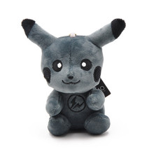 2019 Fashion Darkly Plush Pikachu Japan Cartoon 10CM Doll Key chain Toys Black Monster Cute Best For Gifts