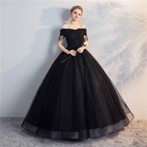 Image 5 - Pani Win Quinceanera sukienki Prom z krótkim rękawem klasyczna Off The Shoulder szlachetna suknia balowa z aplikacjami Party wieczorowa suknia na studniówkę