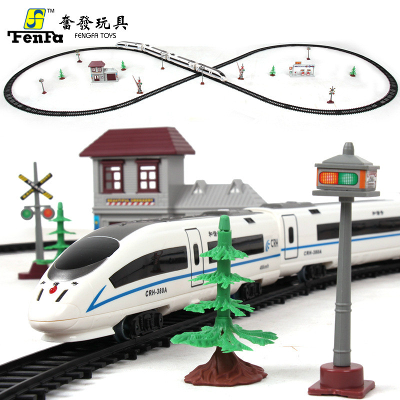 Simulation électrique de Rail d'harmonie Express de modèle de jouet d'enfant de grande taille de Train de Train harmonieux de chemin de fer à grande vitesse