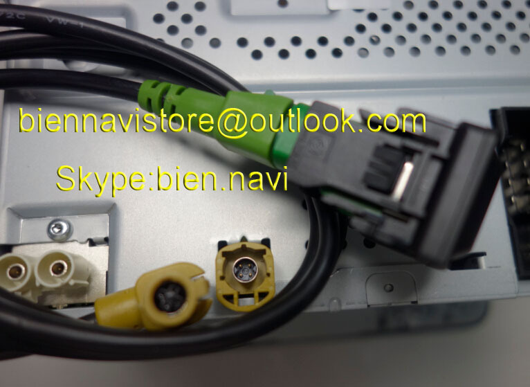 FREE SHIPPING 100% NEW VW OEM <font><b>USB</b></font> + Switch Plug & Cable For VW <font><b>Passat</b></font> <font><b>B6</b></font> B7 RCD310 RCD510 image