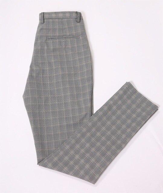 Vintage Grau Plaid Manner Blazer Hose Slim Fit Bespoke Groomsmen