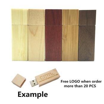 LOGO customized Wooden bamboo USB flash drive pen driver wood chips pendrive 4GB 8GB 16GB 32GB USB creativo personal Gift