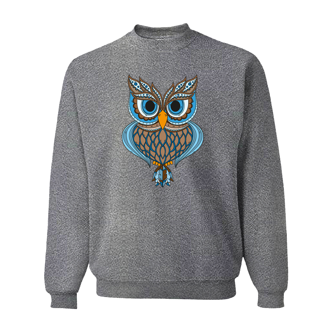 HAMPSON LANQE 2019 Spring Animal Owl Printed Men's Sweatshirts Hoodies Harajuku Fleece Sweatshirt Casual Men Punk Hooded CM01
