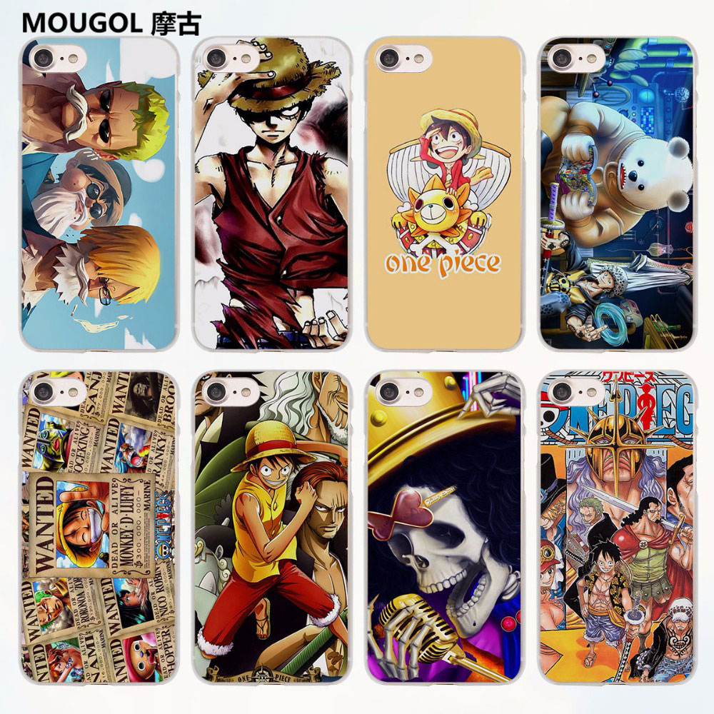 MOUGOL One Piece Luffy Zoro Sanji franky design transparent clear Cases Cover for Apple iPhone 6 6s Plus 7 7Plus SE 5 5s 4s 5c